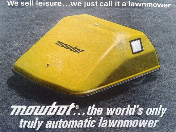 Verdens første gressklipperrobot. Foto: Mowbotics.