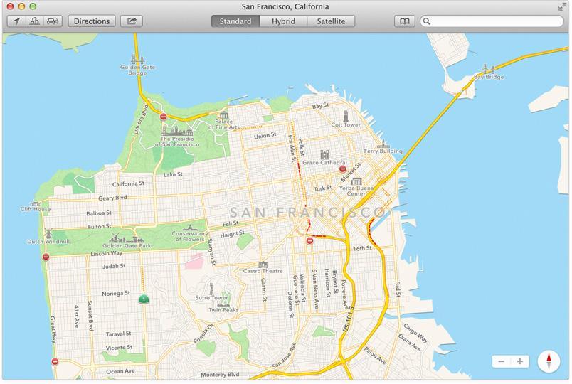 Apples karttjeneste kommer til Mac.Foto: Apple