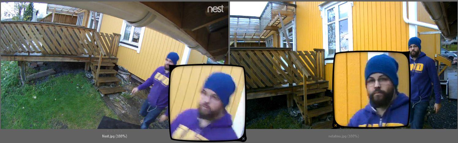 Nest Cam Outdoor (venstre) VS Netatmo Presence (høyre).