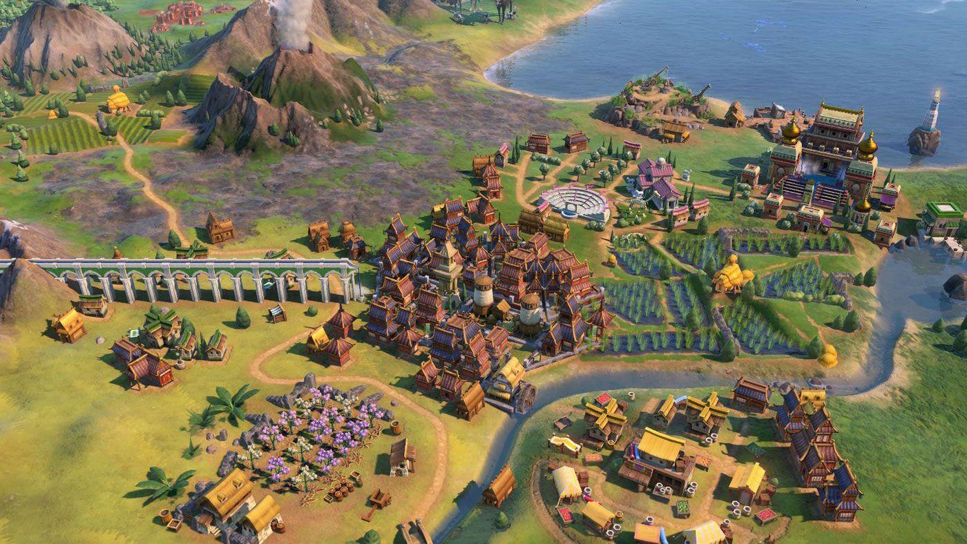 Slik ser spillverdenen i Civilization VI ut.