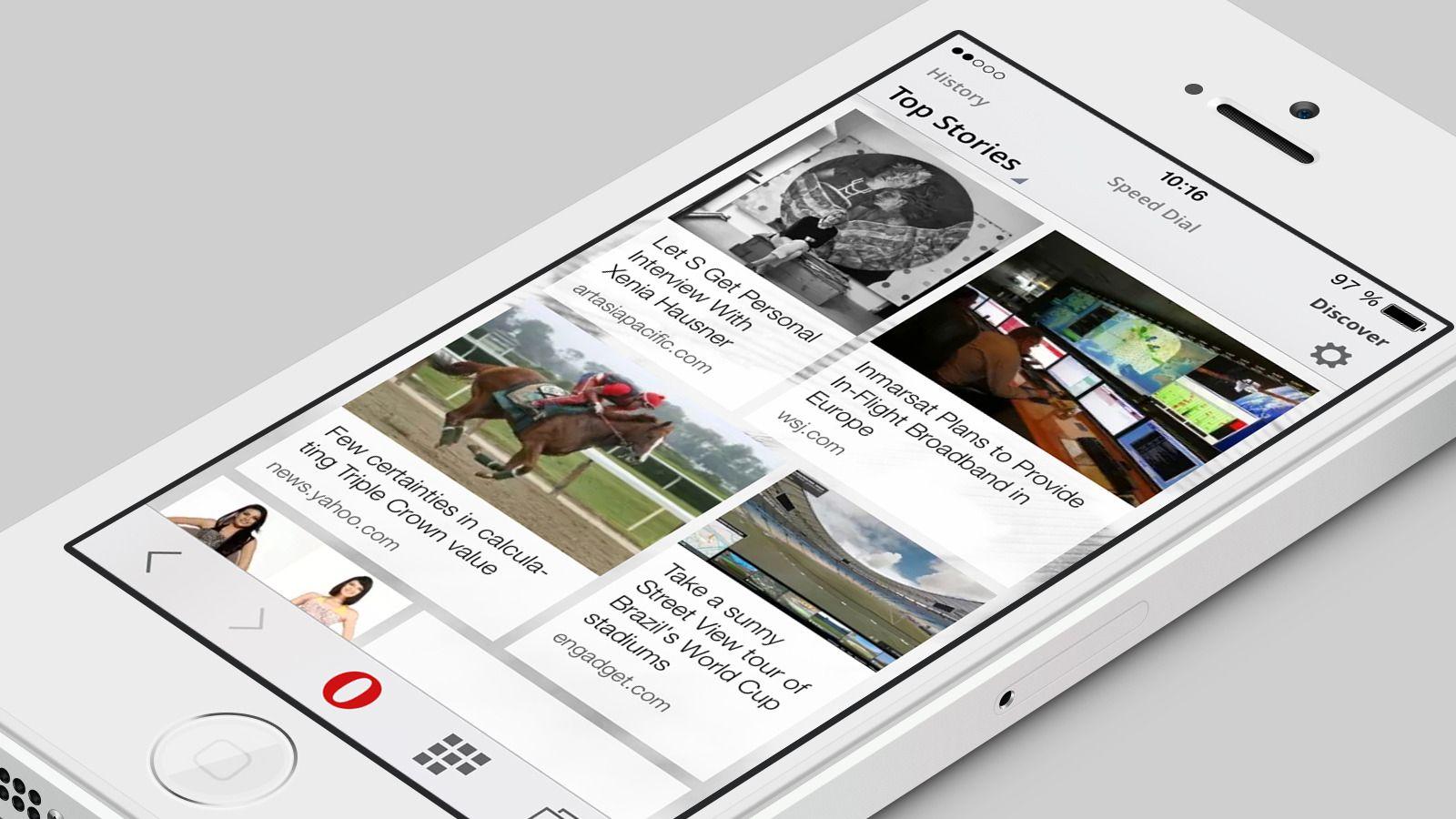 Opera Mini-nettleseren for iOS har blitt helt ny