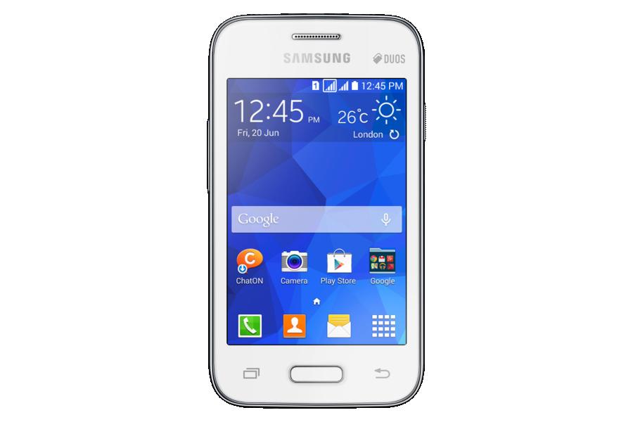 Samsung Galaxy Young 2 (Obs: bildet er av dual SIM-versjonen).Foto: Samsung