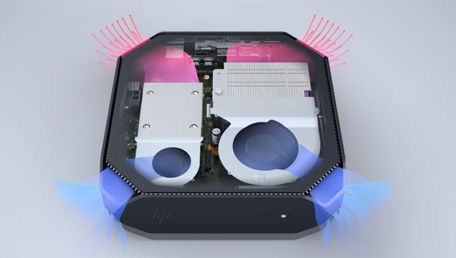 Et unikt kjølesystem sørger for stille drift.