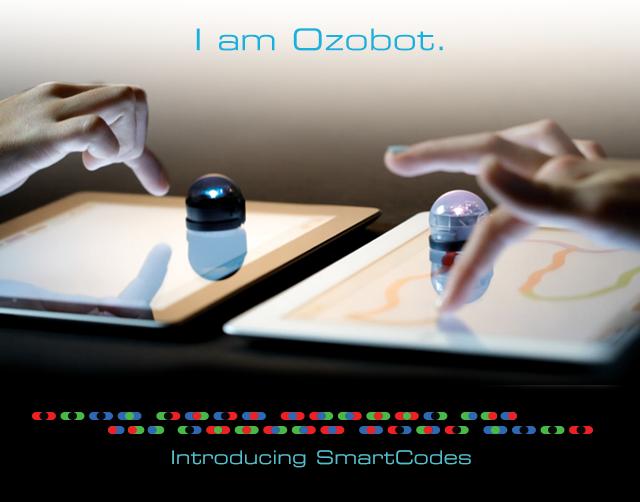 Ozobot følger linjer, og reagerer på farger i linjene.Foto: Ozobot
