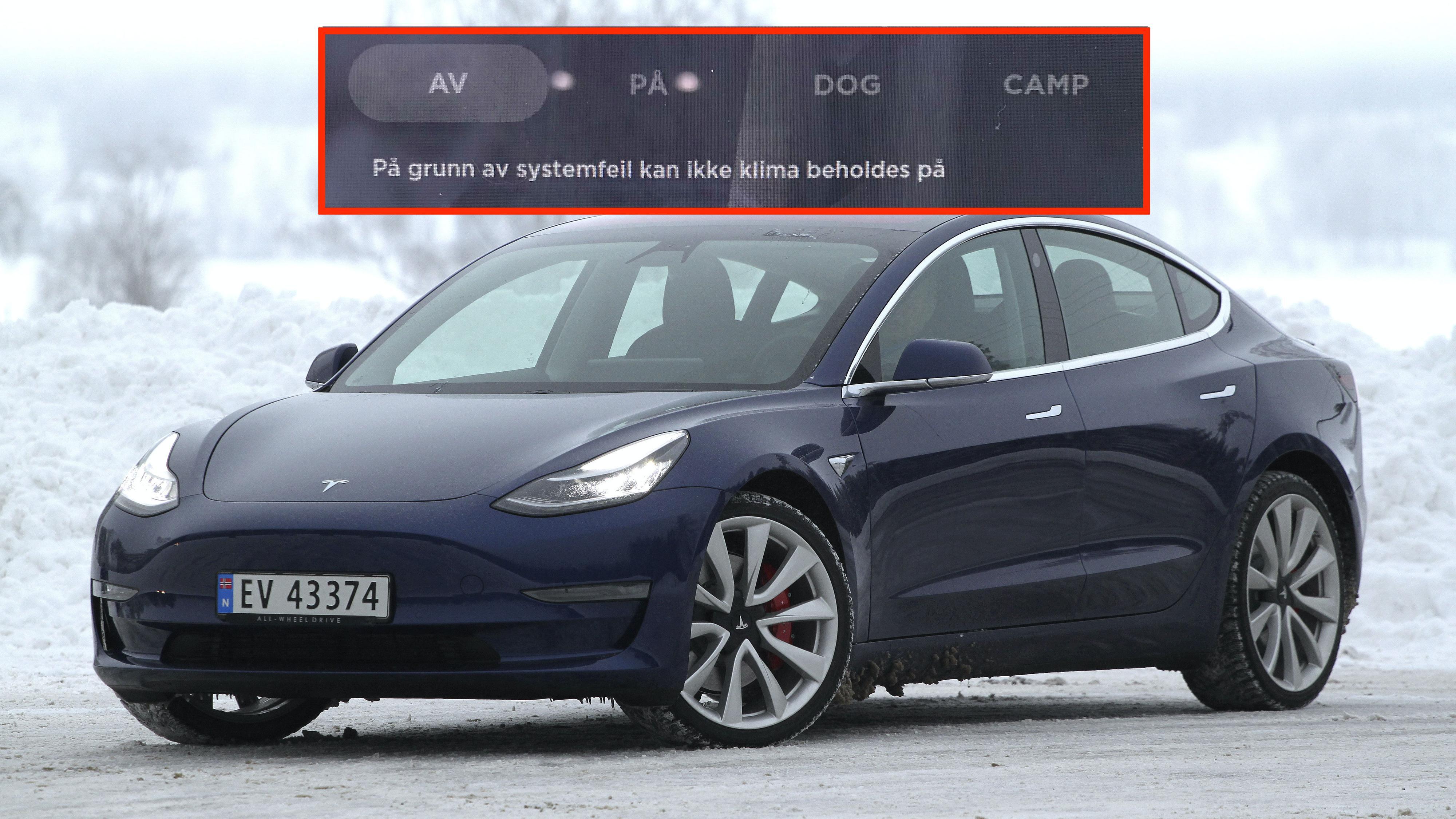 Flere nye Tesla Model 3 blir plutselig iskalde