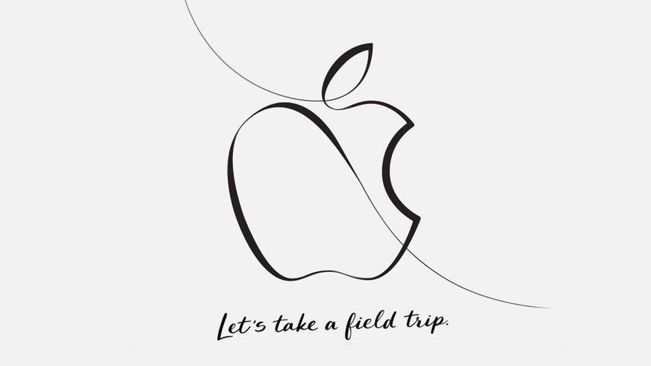 Slik ser invitasjonen fra Apple ut. Er det håndtegnede eplet et tegn på at de skal lansere en ny Apple Pencil, eller en ny iPad Pro?