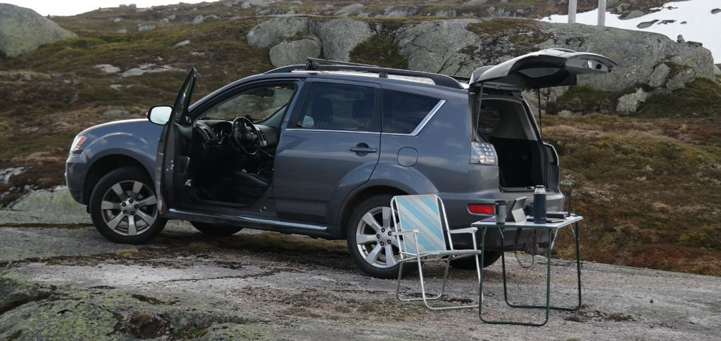 Samtlige målepunkter er tilgjengelige med bil, i alle fall om sommeren. Foto: Espen Irwing Swang, Amobil.no