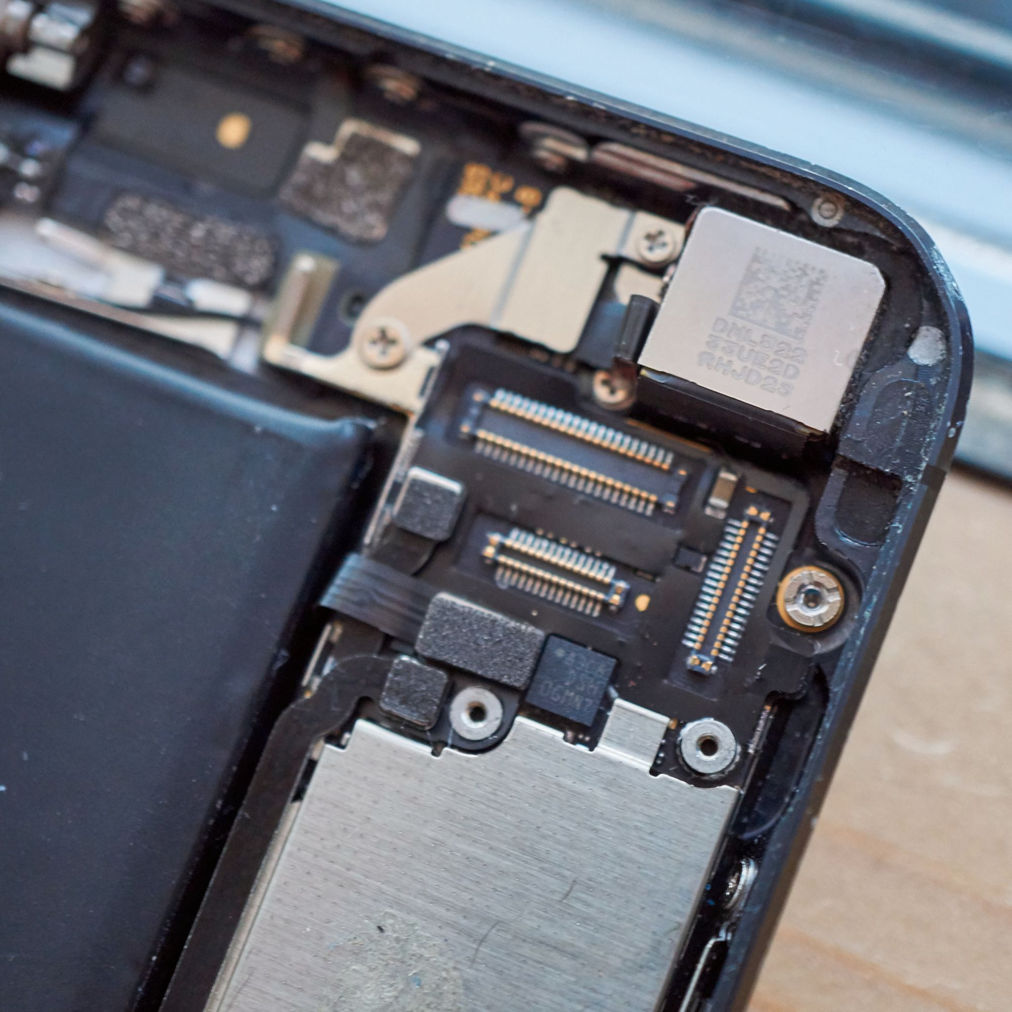 Kamera og kontakter, iPhone 5.