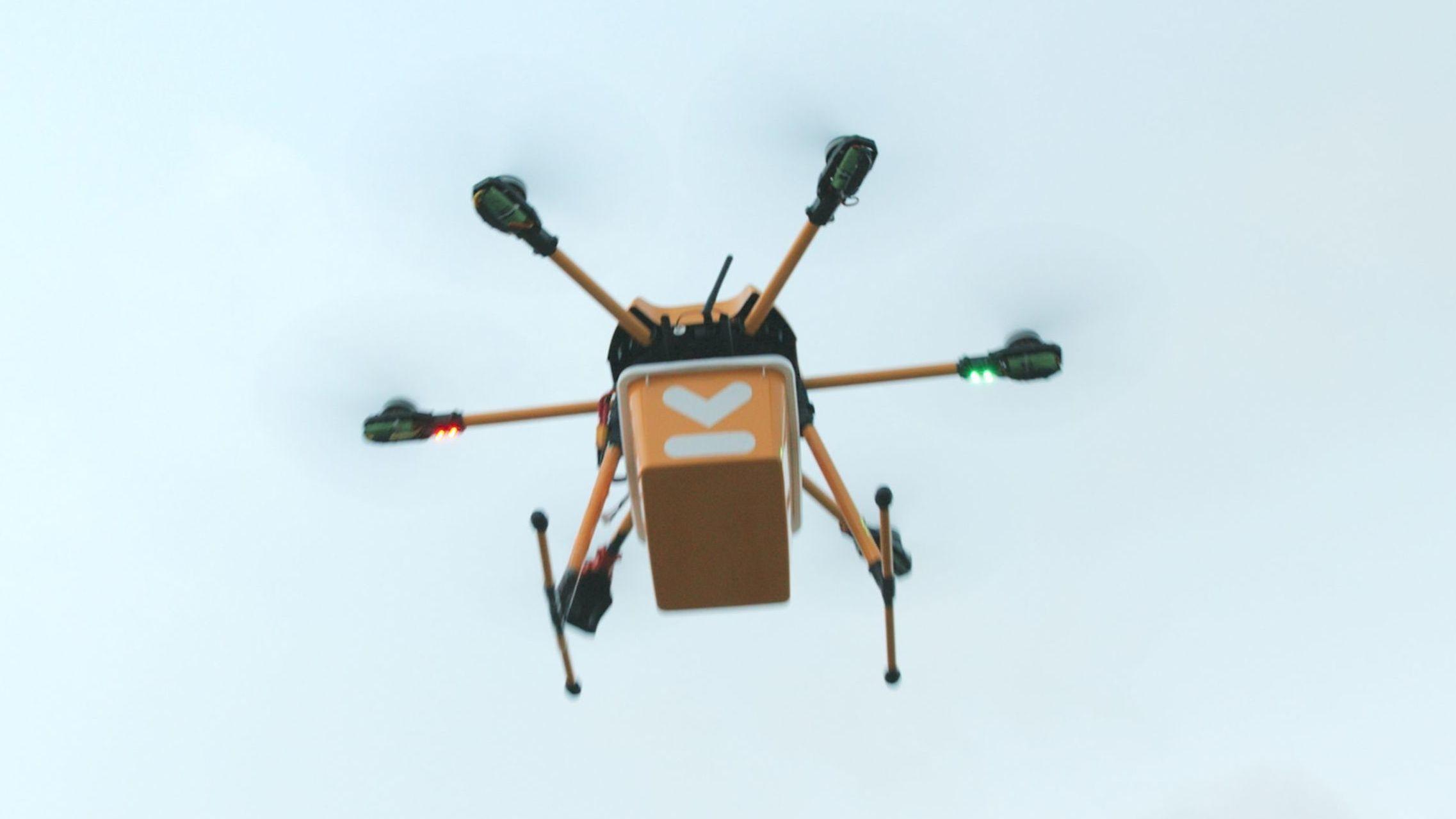Denne norske dronen skal levere matvarene på døren