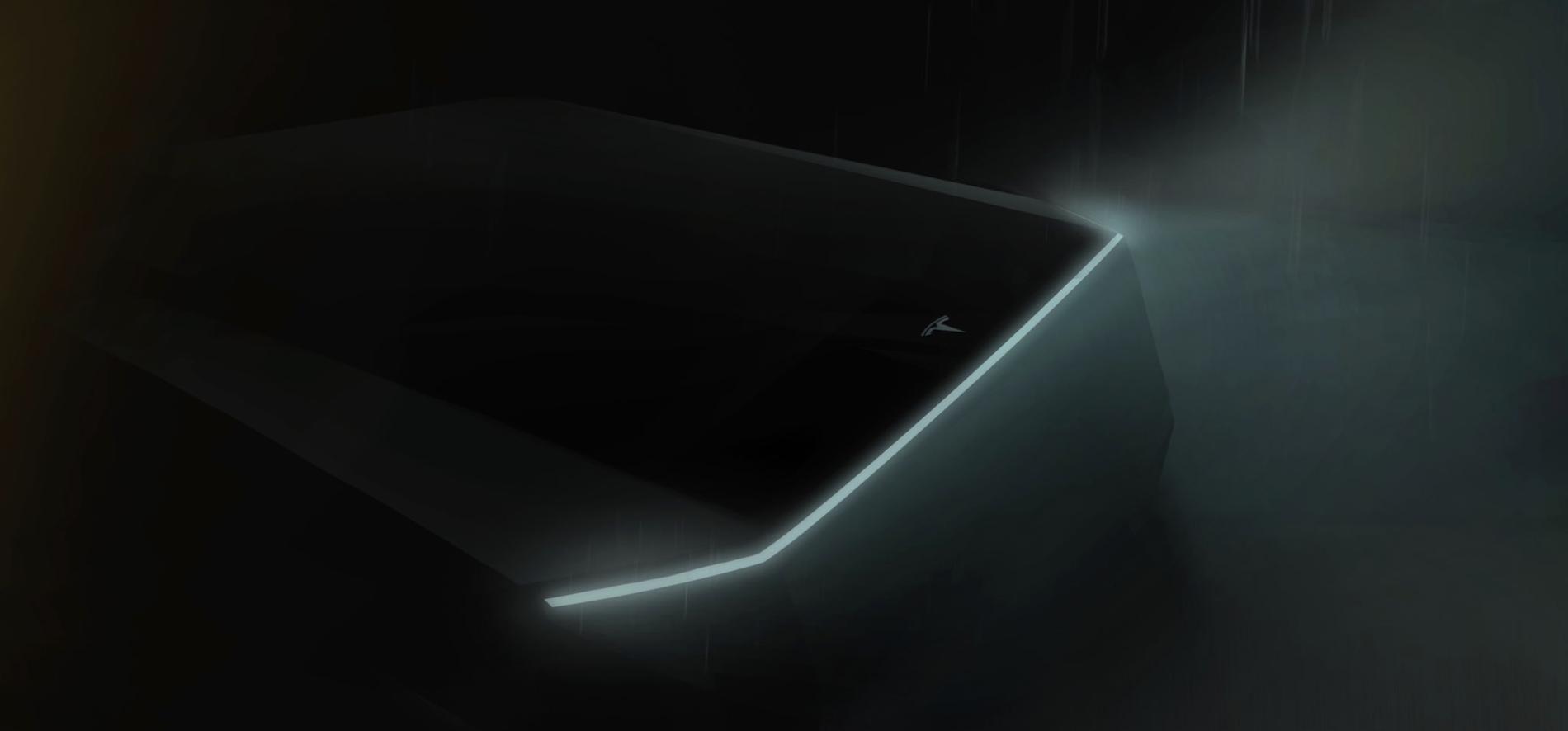 Tesla har sluppet dette bildet av den kommende pickup-trucken.