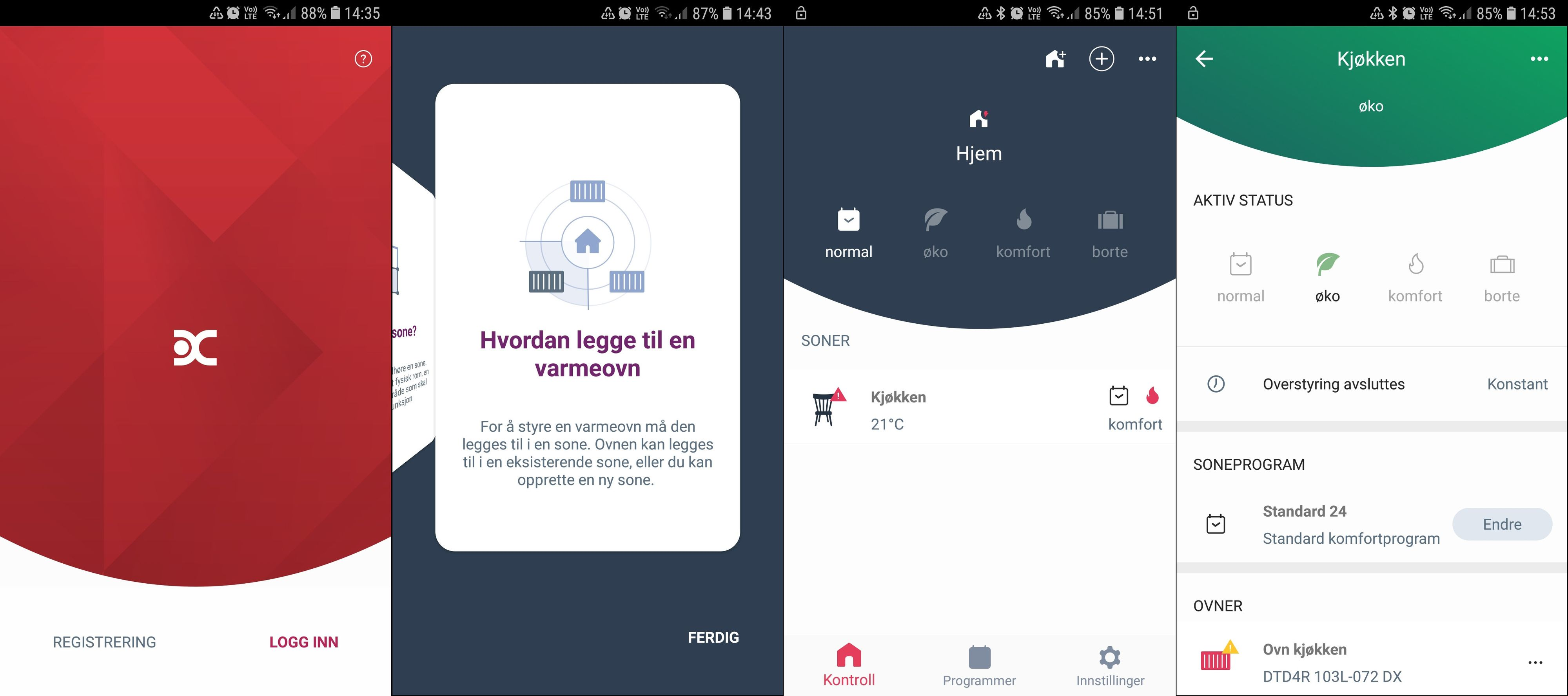 I Dimplex Capa kommer bruksanvisningen opp underveis. Det trengs, denne appen er nemlig langt unna den mest intuitive i vår test.