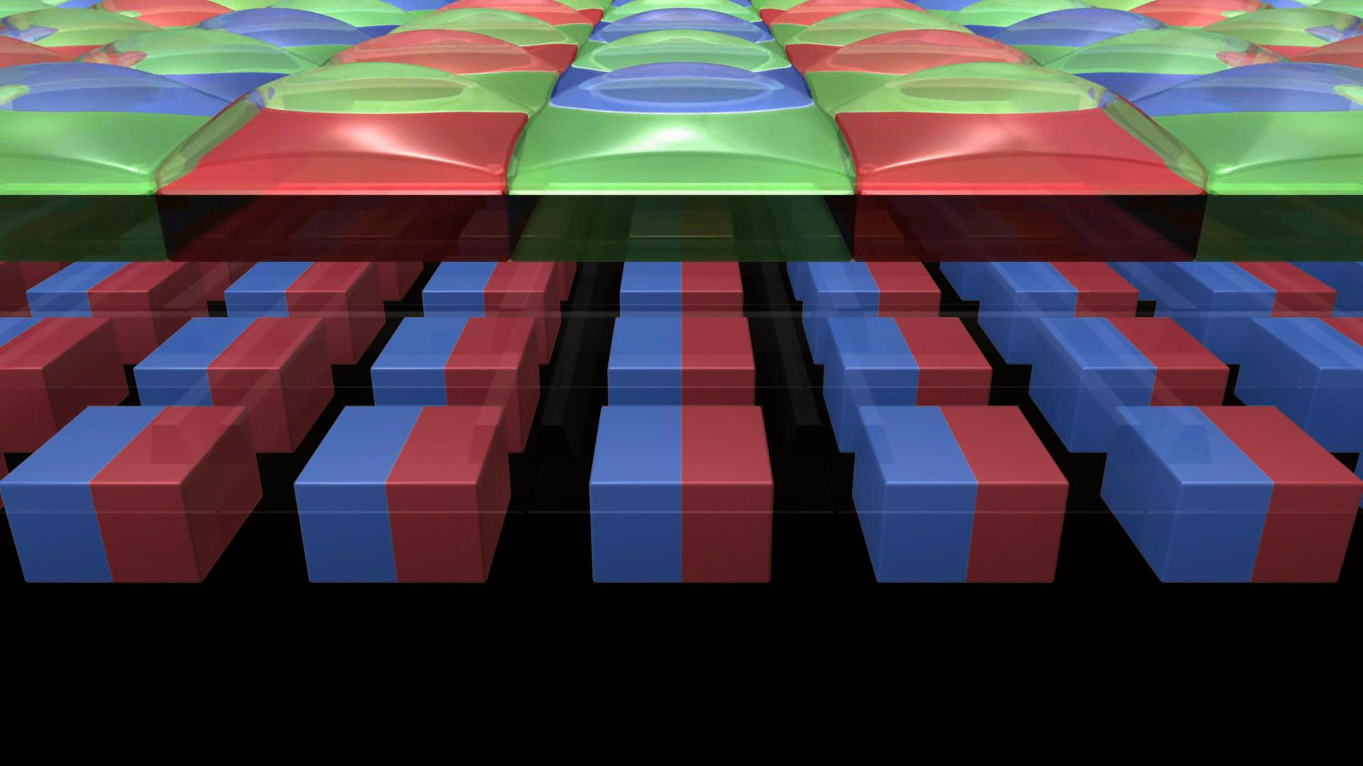 Hver piksel er delt i to.Foto: Canon