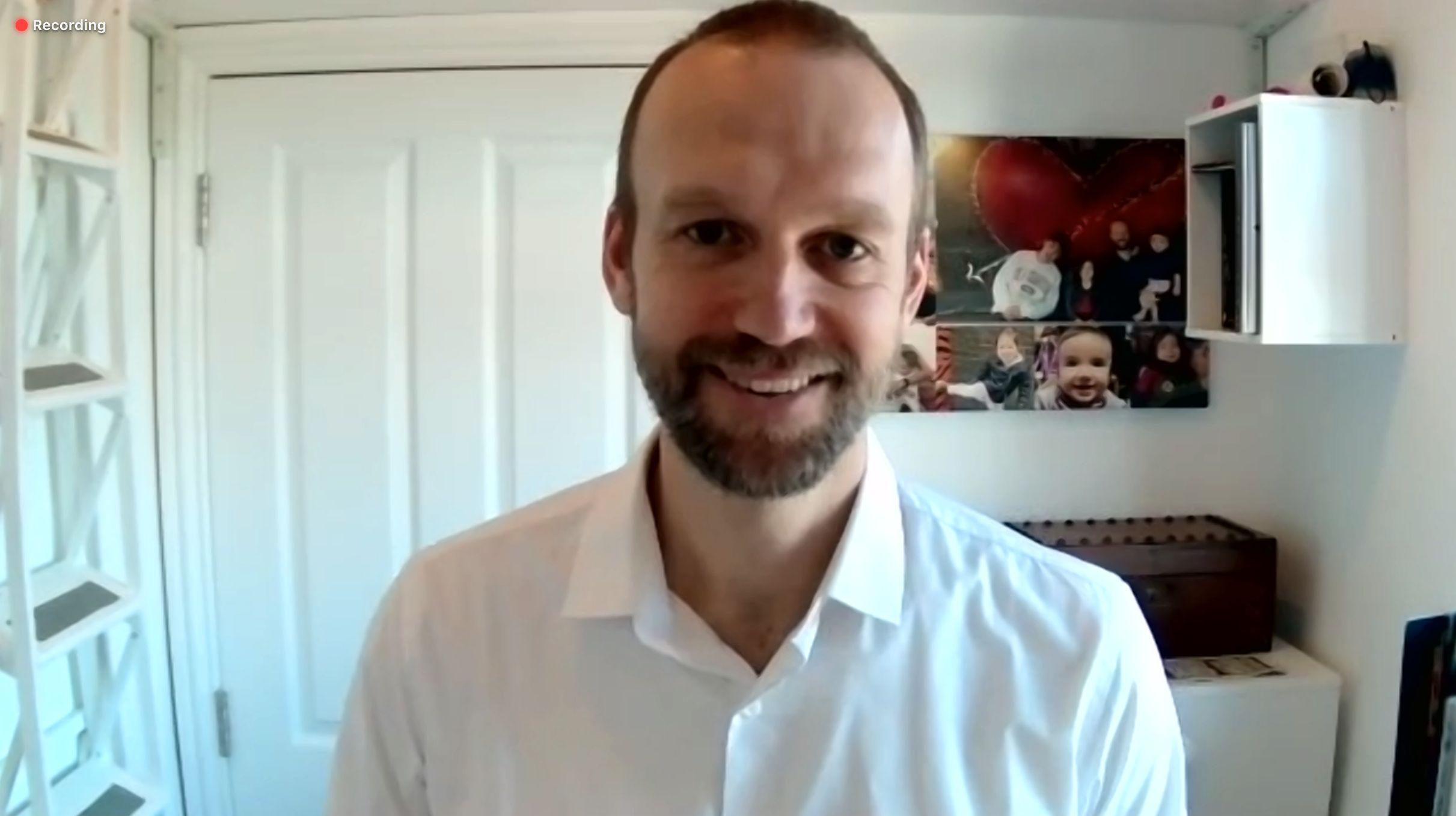 Martin Backlund, Amazon Prime Videos nordiske sjef, stilte opp til Zoom-intervju.