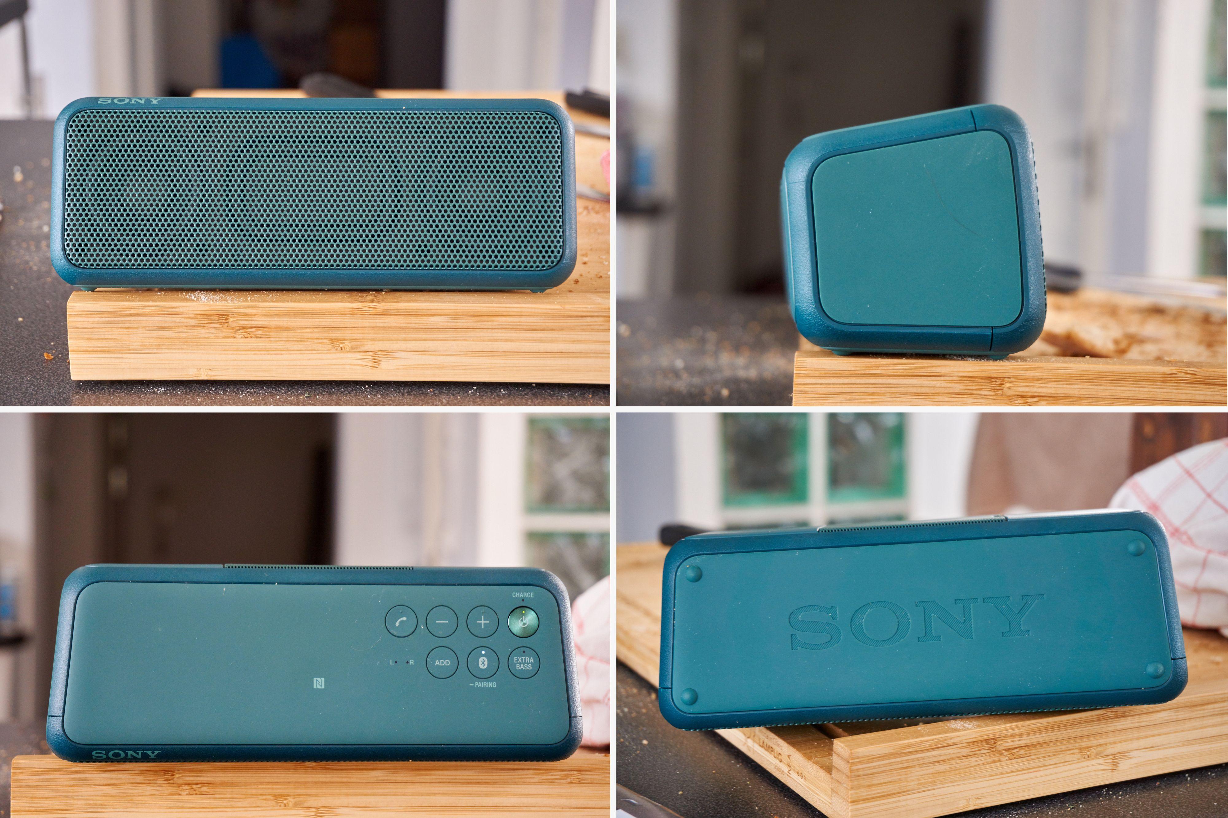 Sony SRS-XB3 har den kanskje mest tradisjonelle utformingen av alle i testen – og er i typisk Sony-stil.