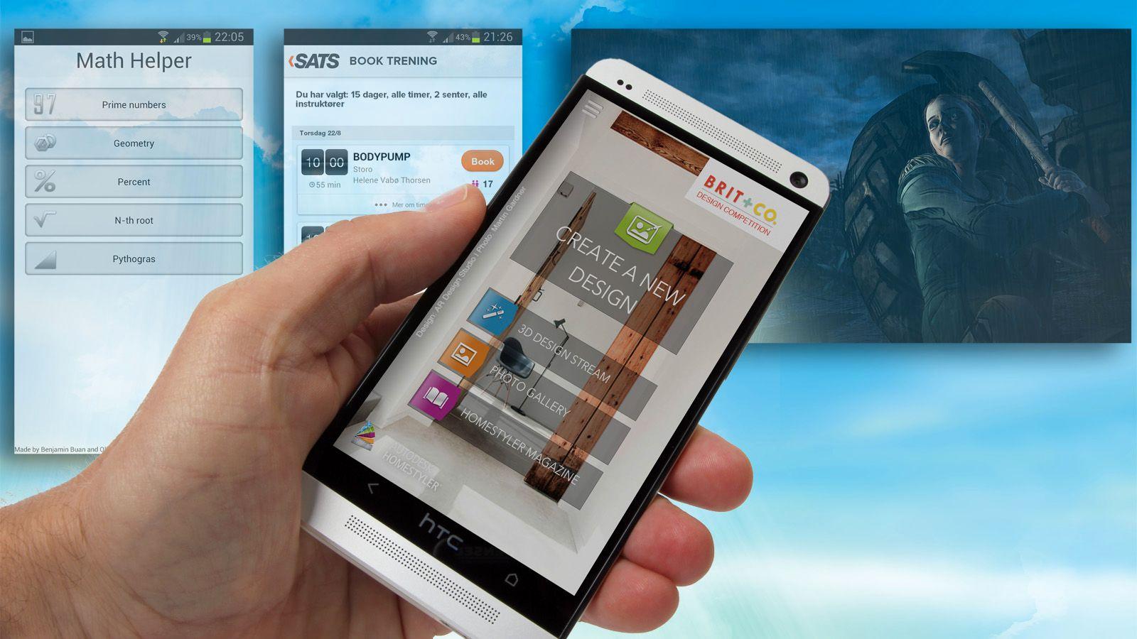Apper til iPhone, iPad, Android og Windows Phone