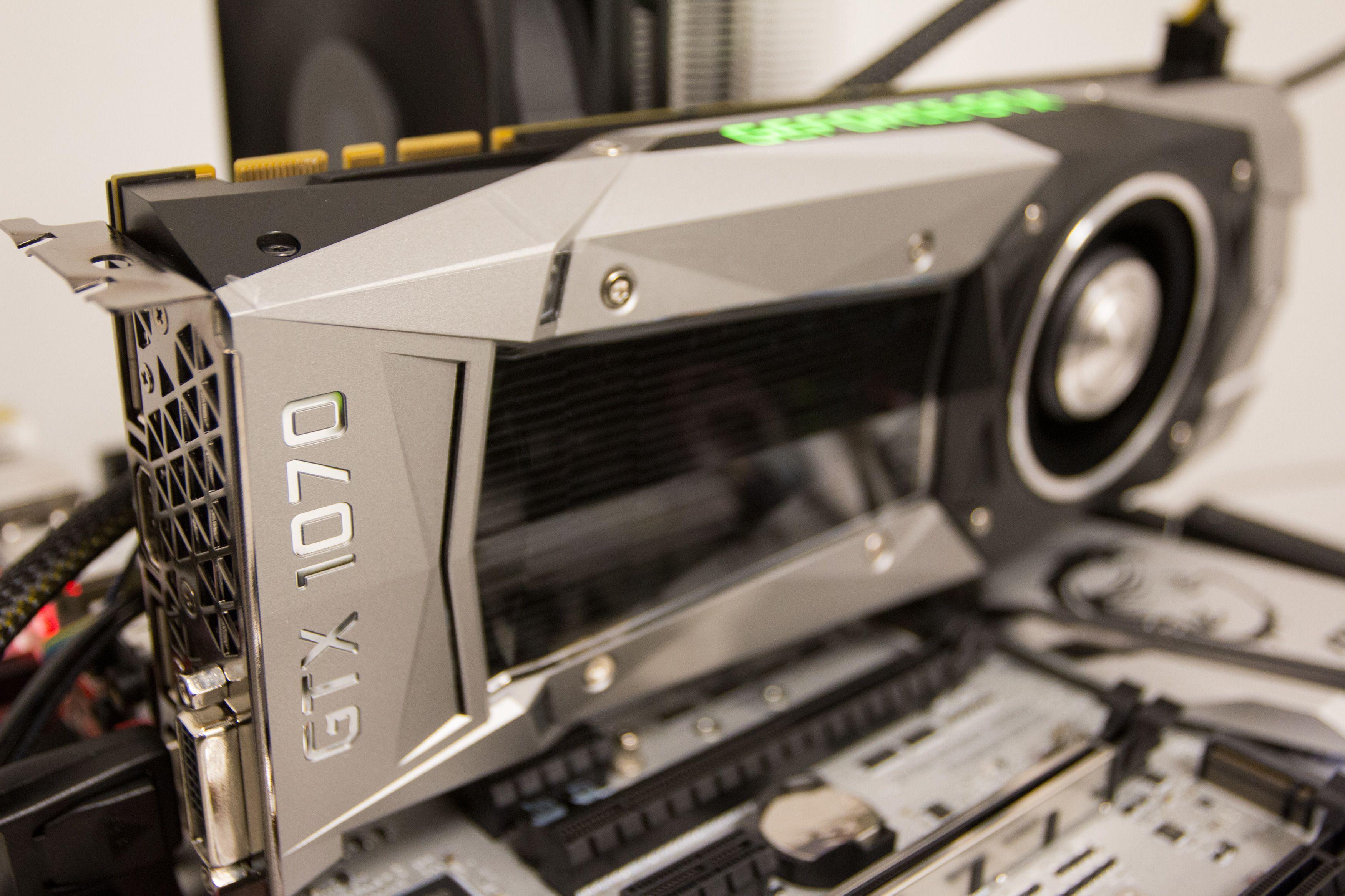 Bilde fra GTX 1070s jomfruferd gjennom våre nye testrutiner.