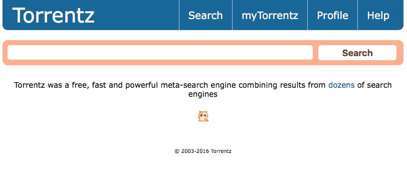 Sjermdump av Torrentz.com.