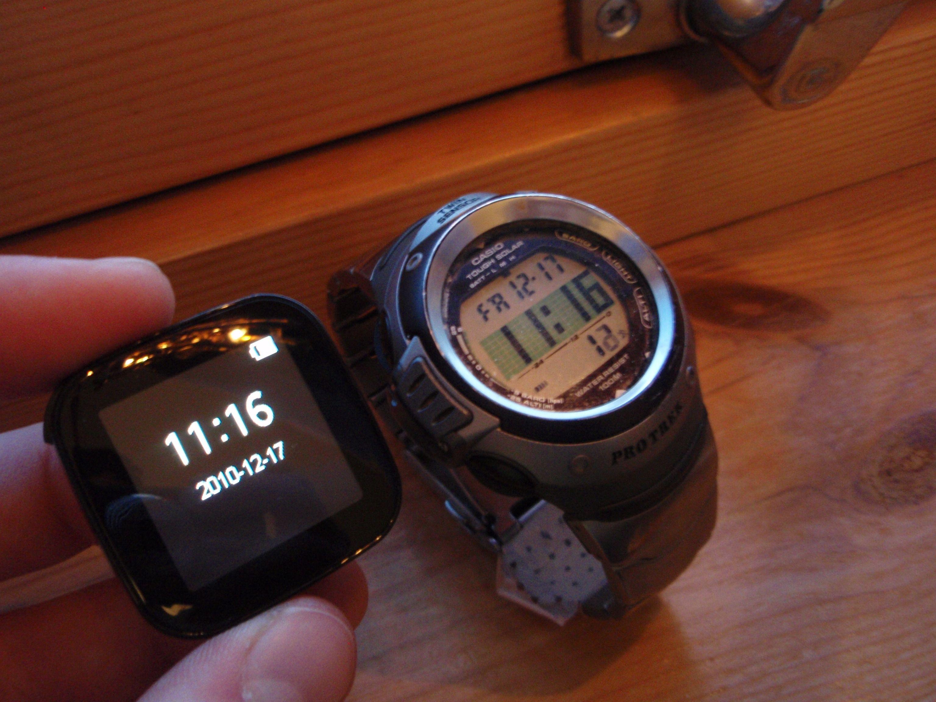 Et vanlig armbåndsur er nok det beste, så kan du jo heller sjekke Facebook-oppdateringene direkte på mobilen din.