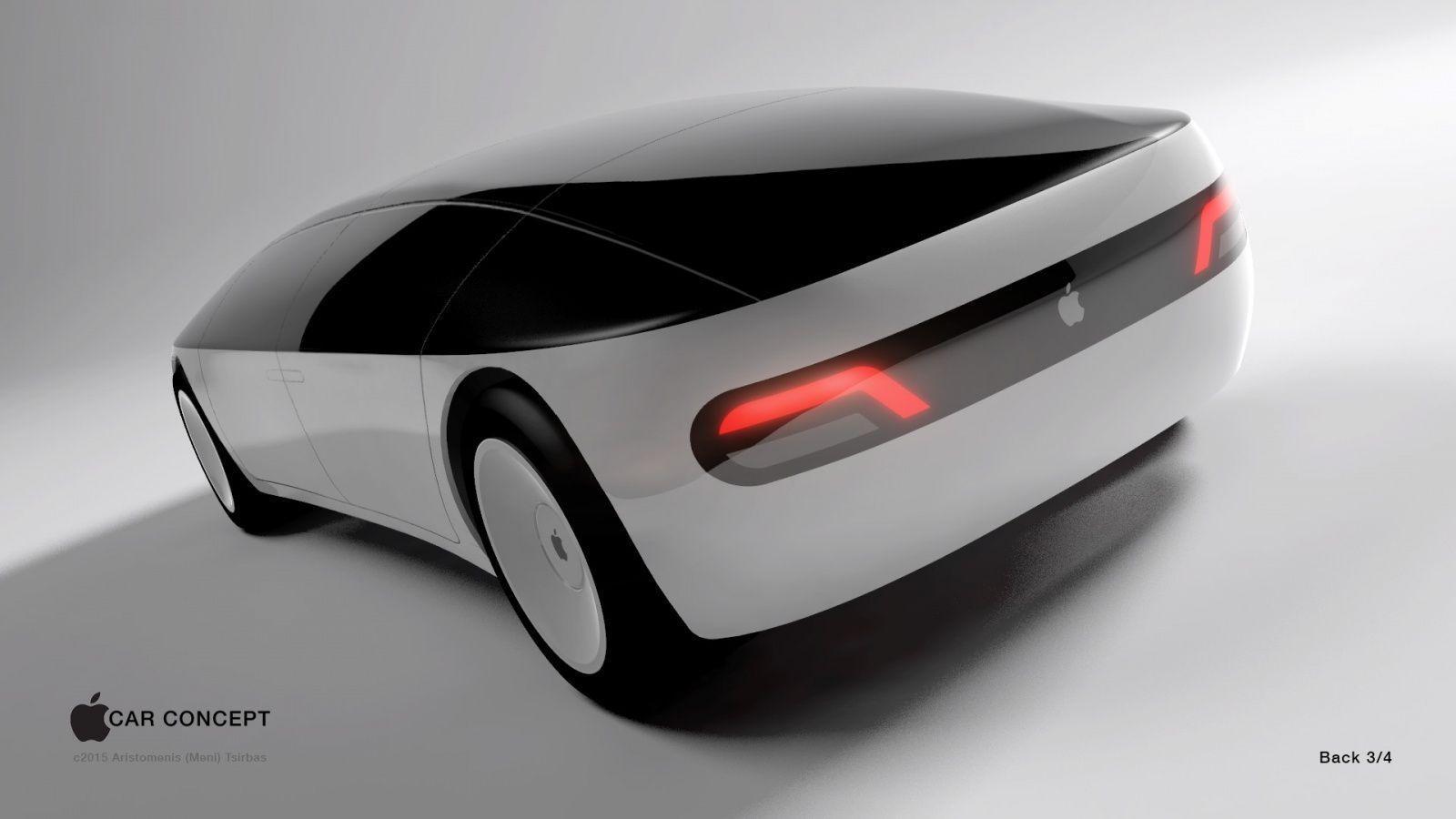 Ingen vet hvordan Apples framtidige elbil ser ut, med desigerne hos Aristomenis tror den vil se omtrent slik ut. Foto: Aristomenis