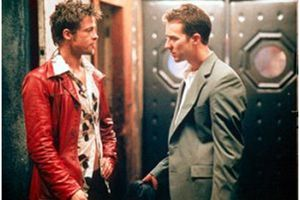 Brad Pitt og Edward Norton i filmen Fight Club.