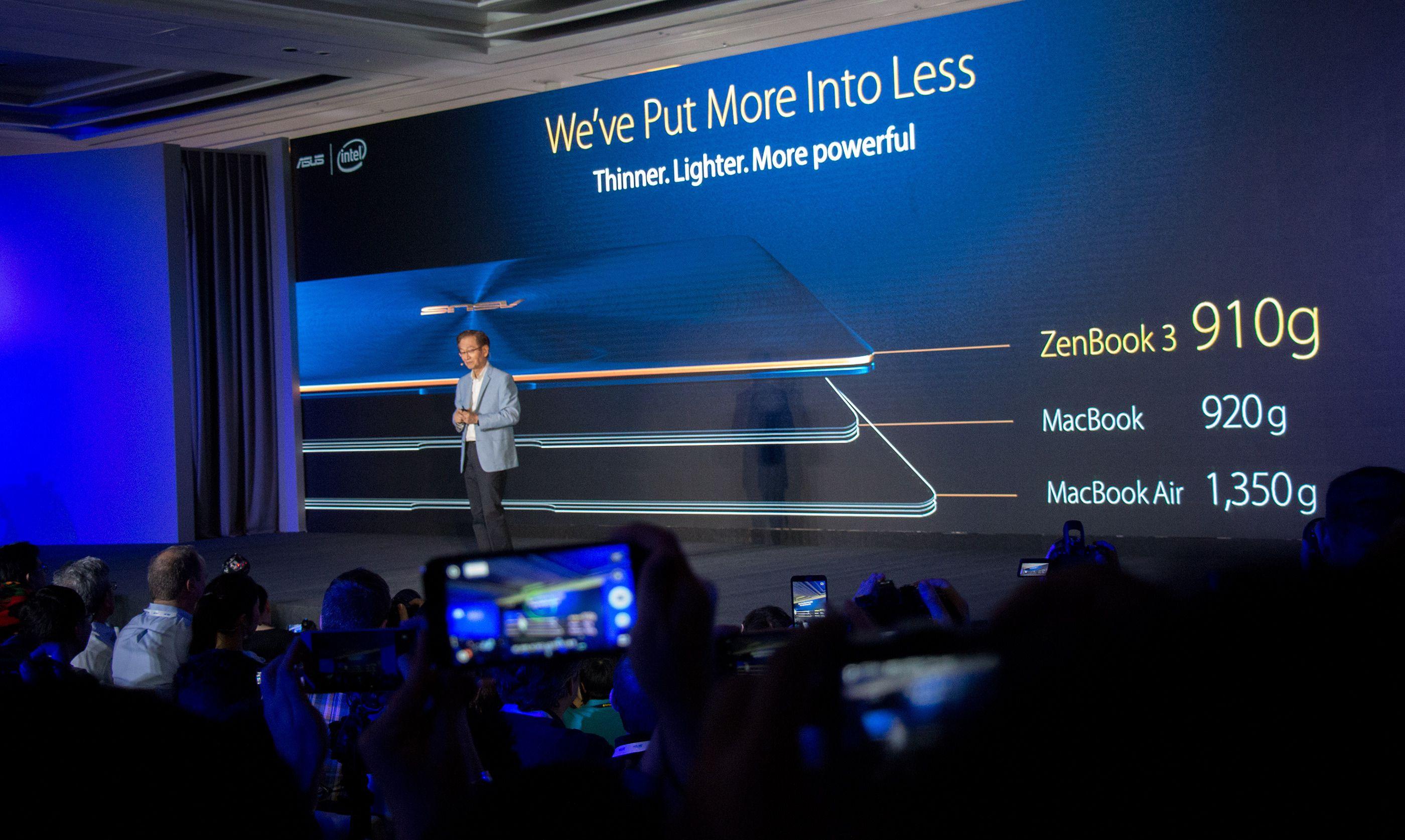 Asus-sjef Jonney Shih er fornøyd med ZenBook 3.