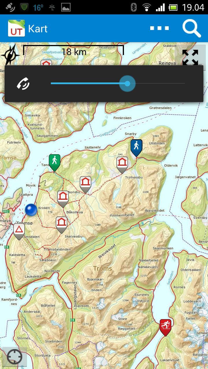 Spesielt nærme de store byene er det mange turforslag. Her: øst for Tromsø.