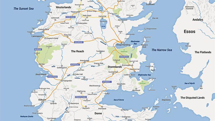 Slik Ville Game Of Thrones Sett Ut I Google Maps Tek No