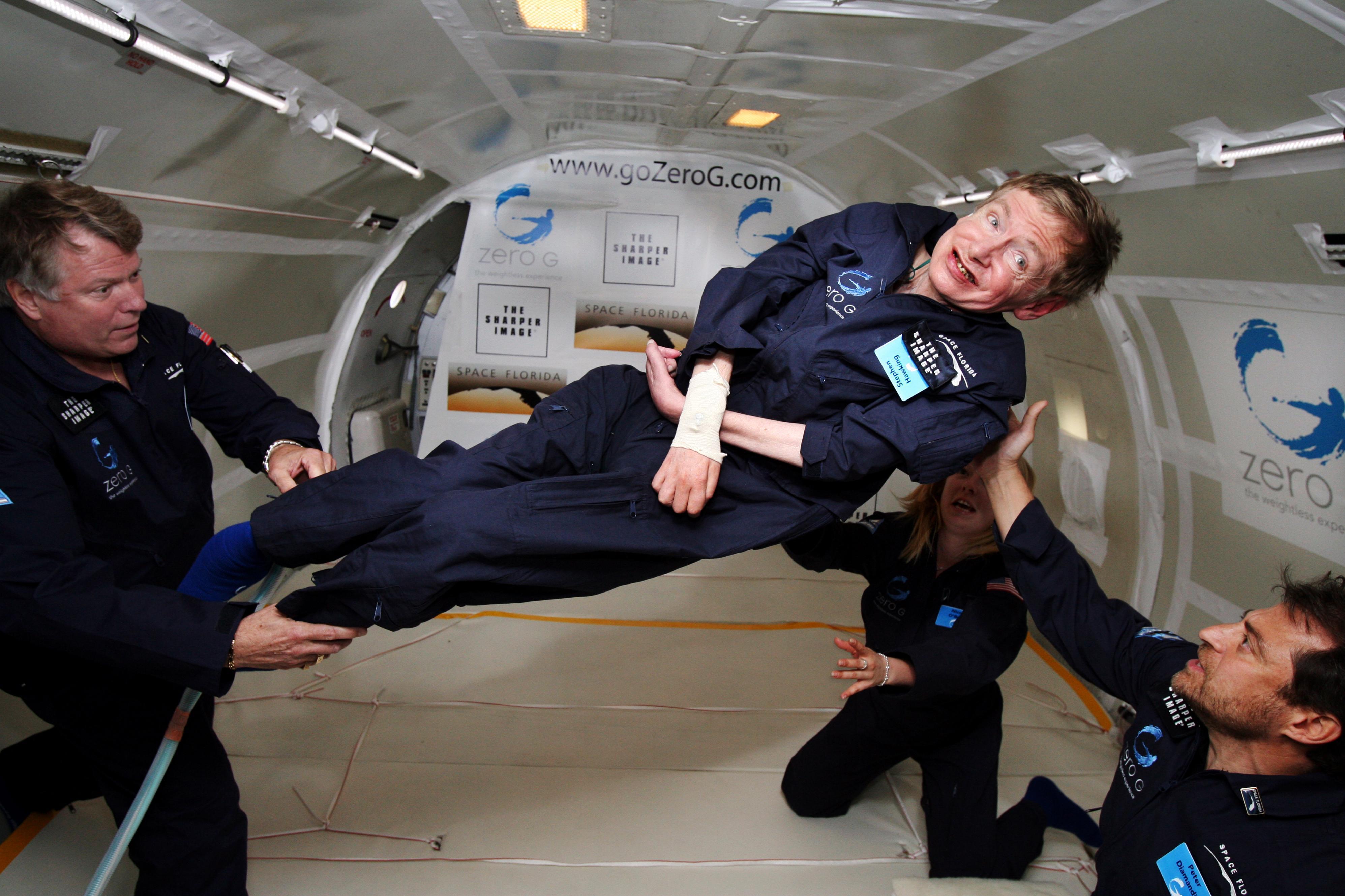 Stephen Hawking – ved en annen anledning. Foto: Jim Campbell/Aero-News Network