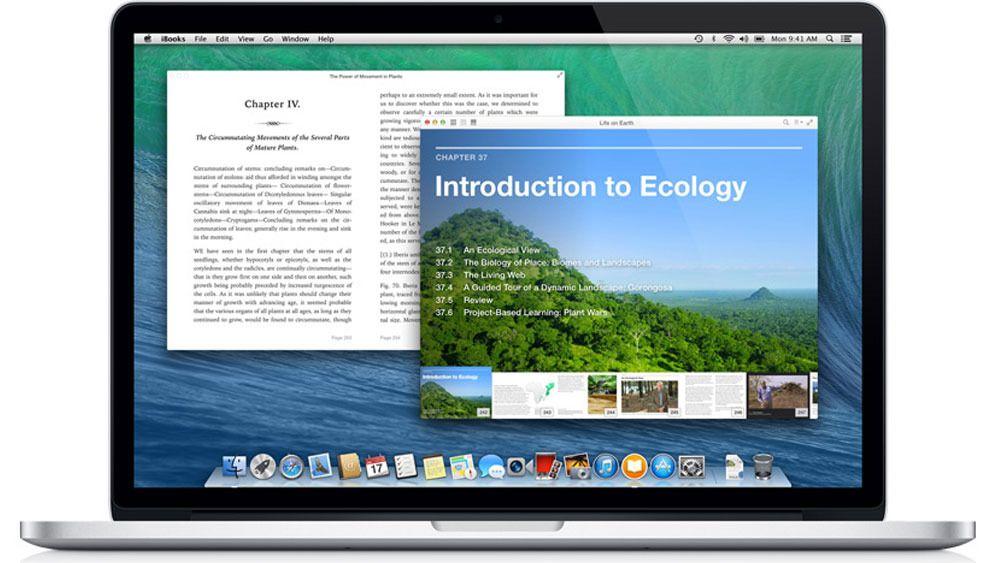 Brukergrensesnittet i Mac OS X er enkelt og oversiktlig.
