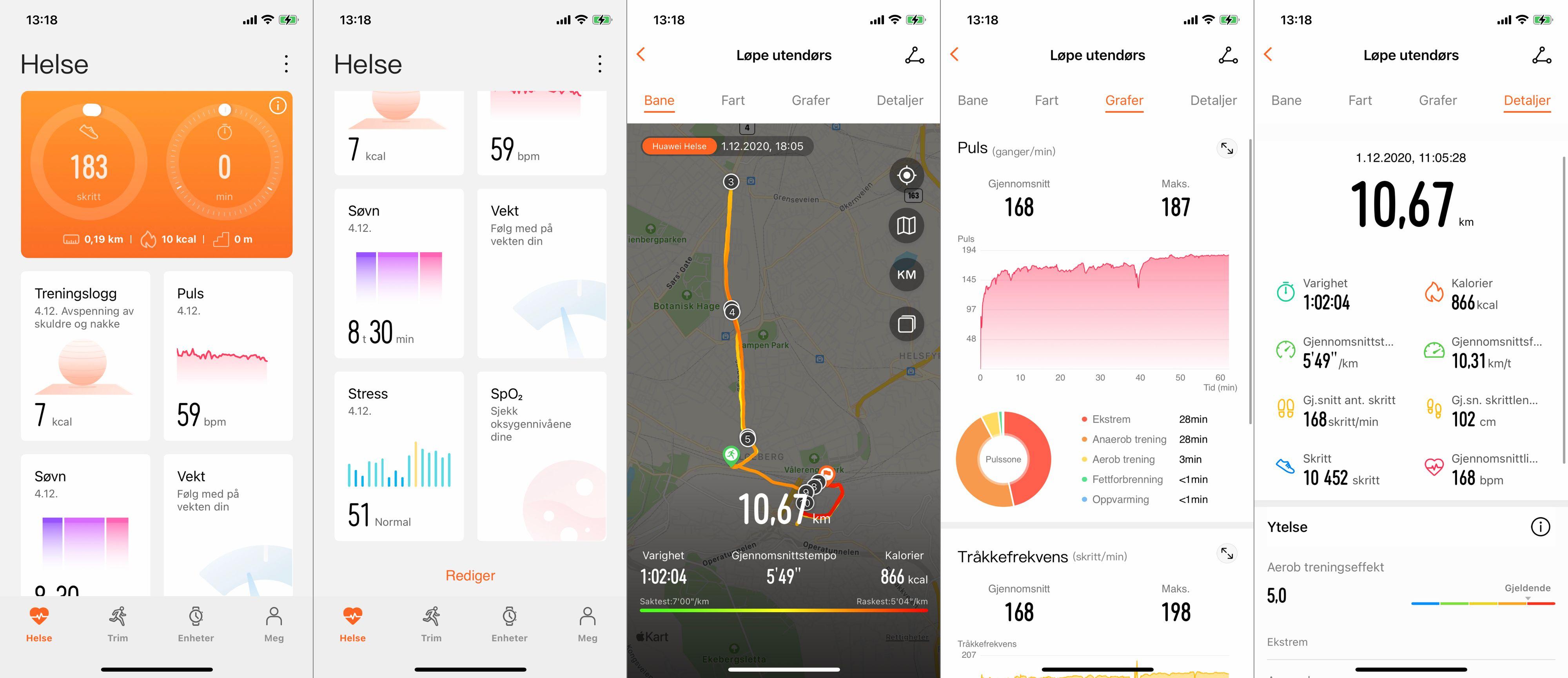 Huawei Health-appen gir detaljert innsikt i treningsøktene dine. Smartklokkefunksjonaliteten er det så som så med.