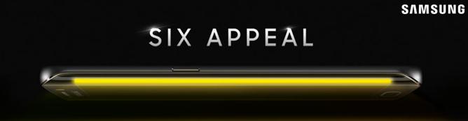 Galaxy S6 Edge får buet skjermkant på begge sider.