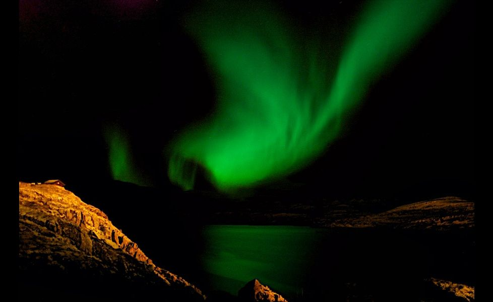 Nordlys i Tromsø. Foto: Feichtnerc