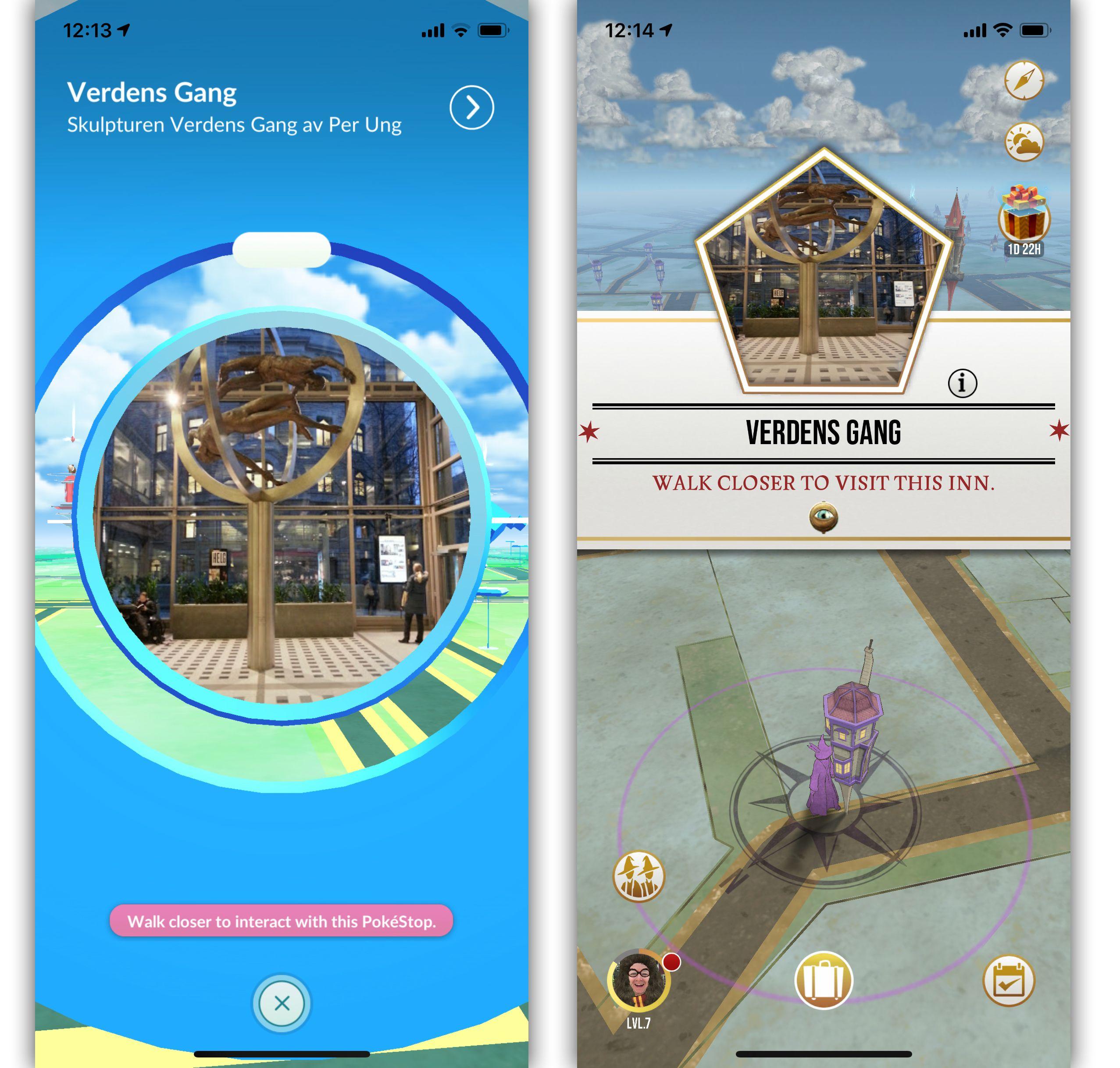 Mange Pokestopp fra Pokemon Go blir gjenbrukt som stoppesteder i Harry Potter Wizards Unite.