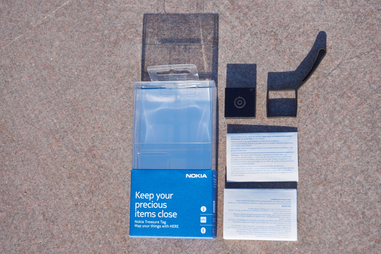 Dette følger med i pakken til Nokia Treasure Tag.