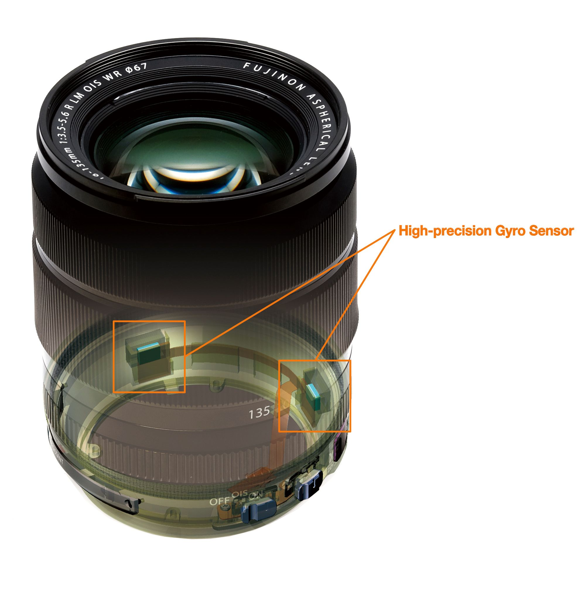 To gyroskop står for bildestabiliseringen.Foto: Fujifilm