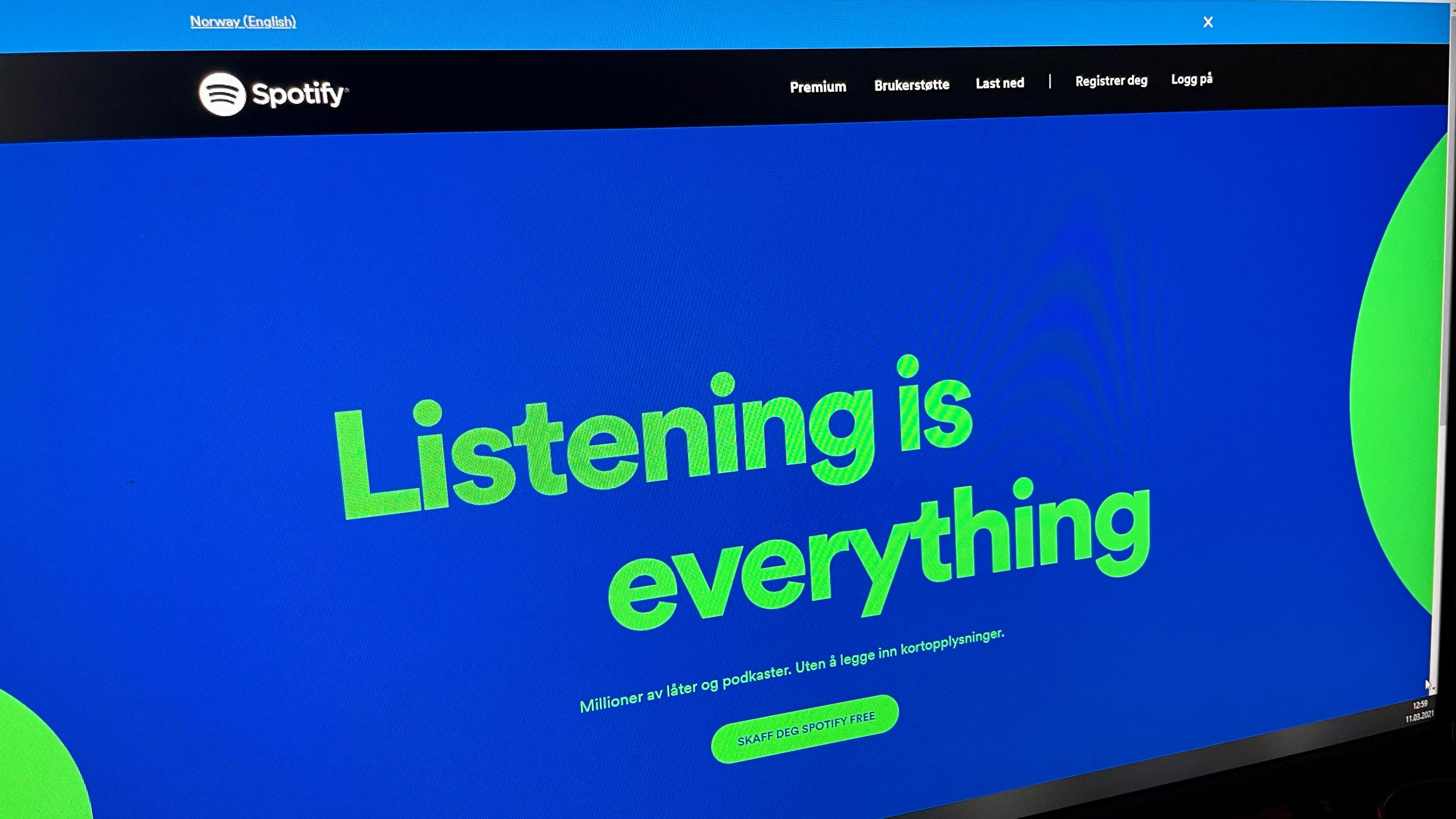 Spotify kommer på norsk