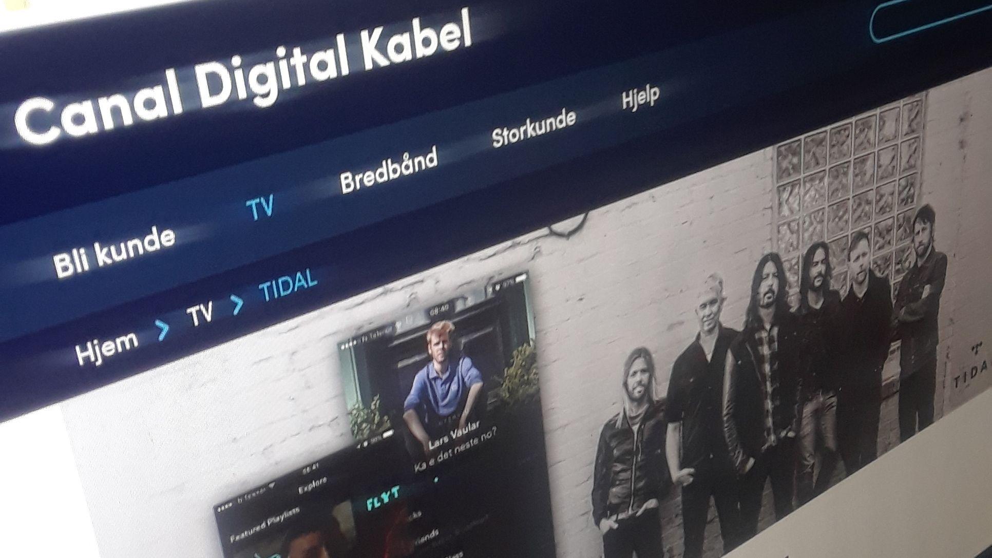 Nå får du ikke lenger tilgang til Tidal gjennom Canal Digital