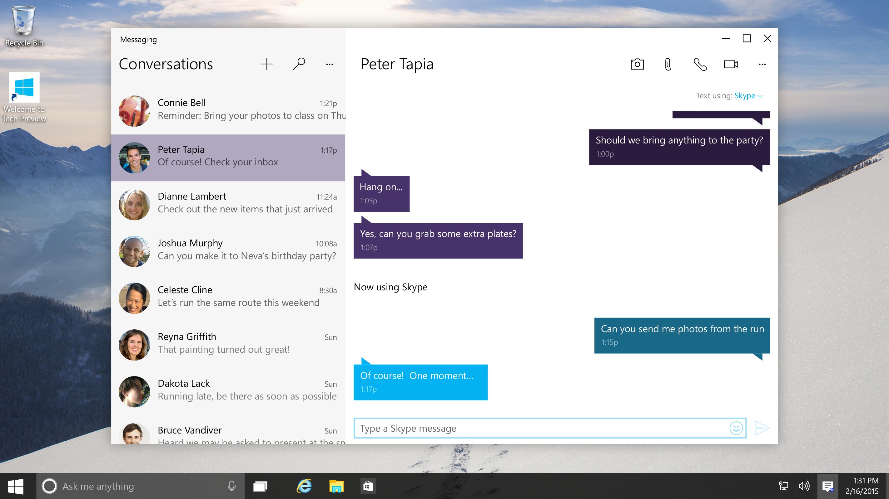 Microsoft har lansert Skype-integrering i Windows 10