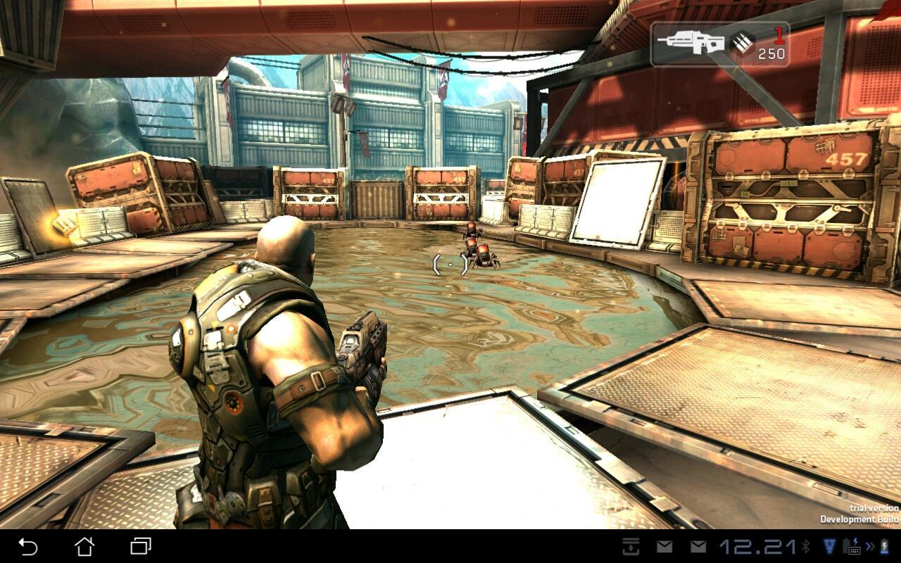 Shadowgun byr på svært detaljert og god grafikk.