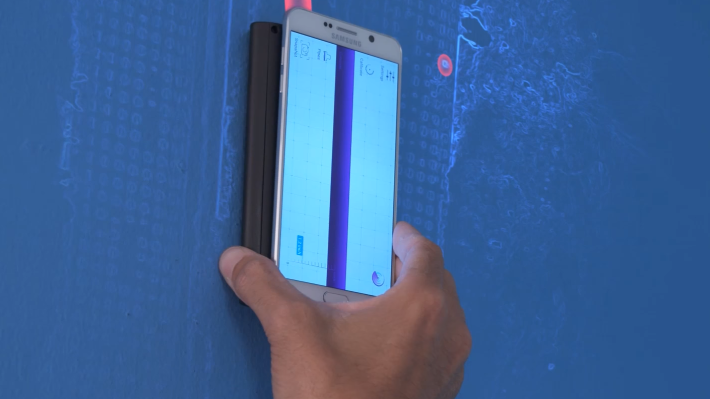 De lagde en sensor som lar deg se ledninger og andre ting inne i vegger