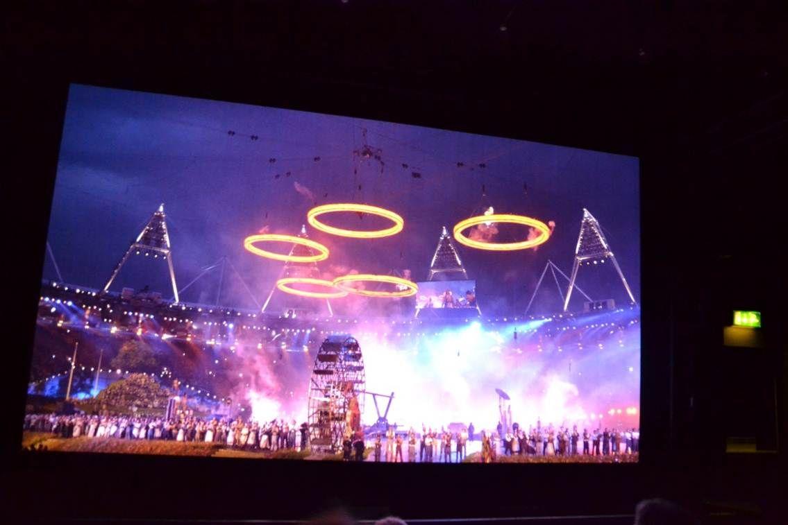 Her ser vi åpningssermonien fra London OL. .Foto: Torkel Thoresen