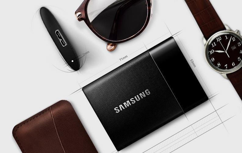 På Samsungs nettside presenterer de SSD-en som trendy, slik at du ikke skal være redd for å ta den med deg når du viser frem portfolioen din. (Foto: Samsung)