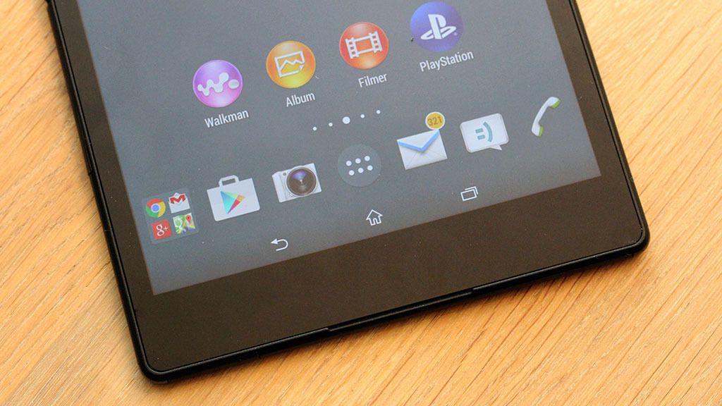 Nå finner du menyfunksjonene på samme sted som på mobilen, og ikke rundt omkring i hjørnene på skjermen, slik tilfellet er på Xperia Z2 Tablet.Foto: Espen Irwing Swang, Tek.no