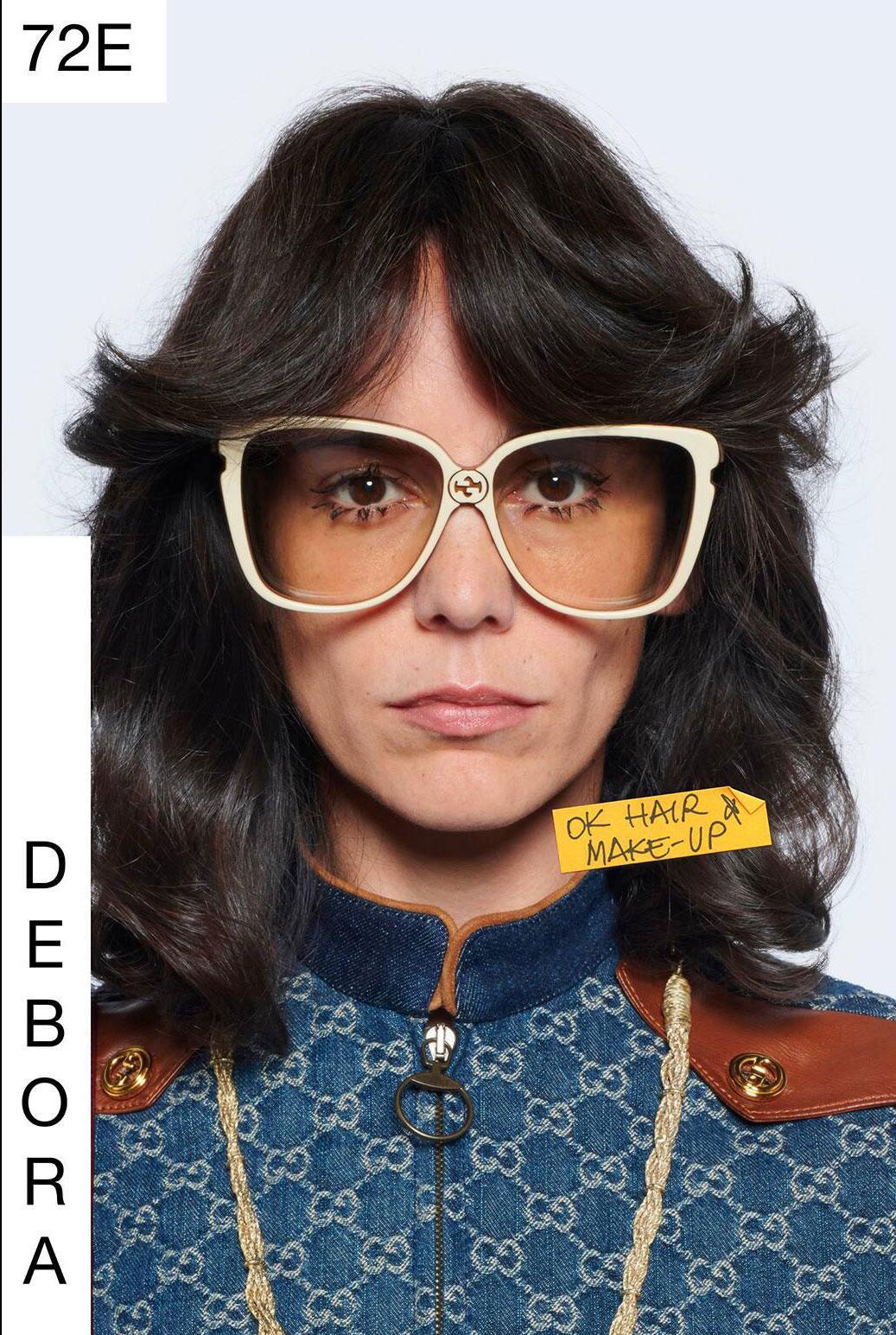 Gucci gick all in på 1970-tal med snygga gardinluggar i sin vårkollektion för 2021.