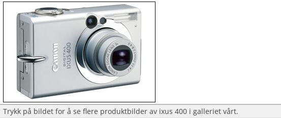 Test av Canon Digital Ixus 400