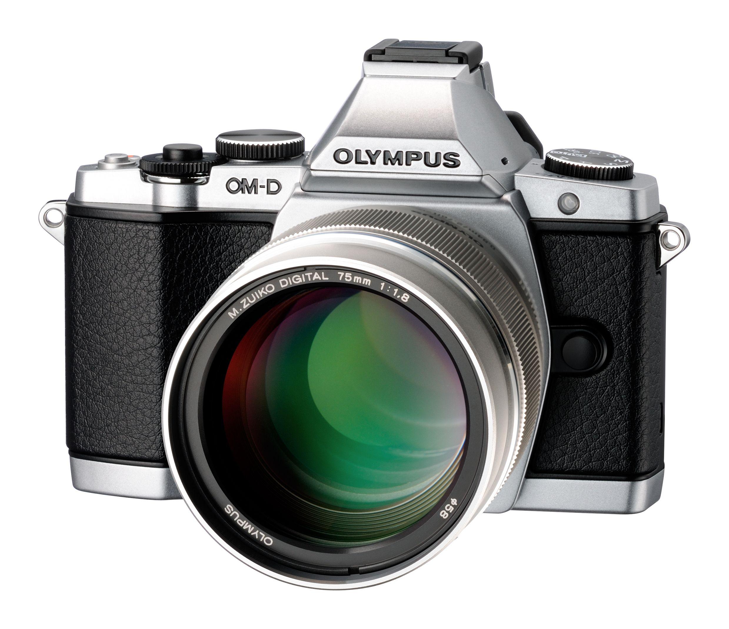 Det nye portrettobjektivet påmontert Olympus OM-D EM-5