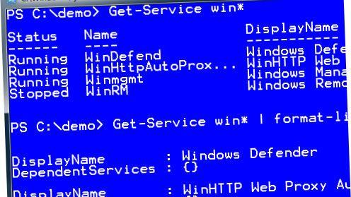 Windows PowerShell 1.0 sluppet
