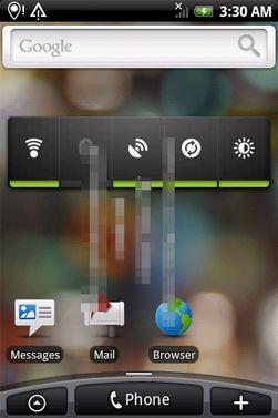 Android 2.1 på HTC Hero. (Foto: HD Blog.it)