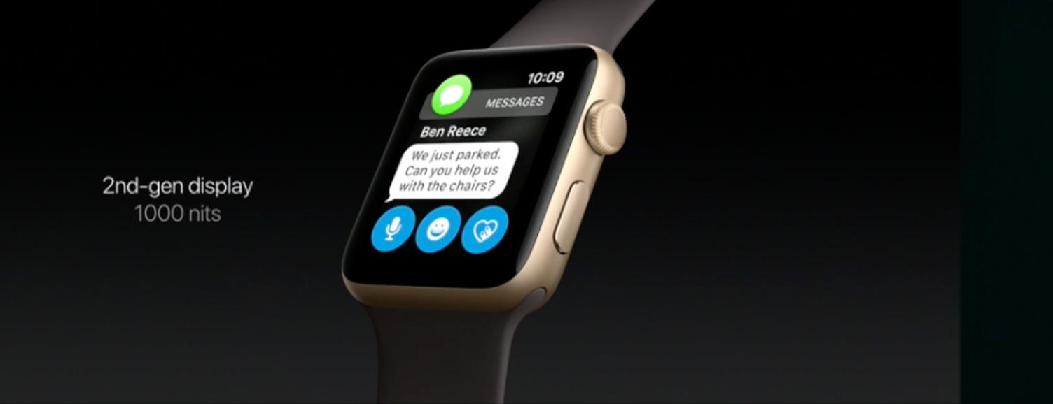 Nye Apple Watch Series 2.