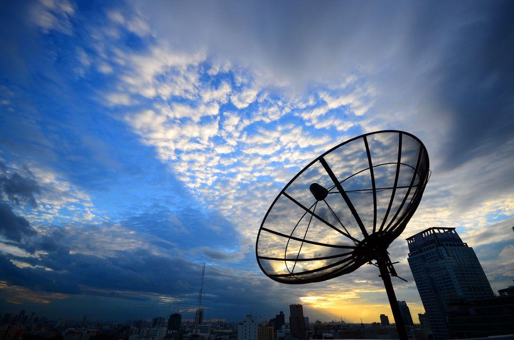 Så lenge du hadde fri sikt til satellitten kunne du få nett-tilgang via parabol. .Foto: Shutterstock
